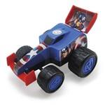 Carro Roda Livre 28cm Formula Monster Capitão América - Marvel