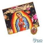 Cartão com Medalha da Nossa Senhora de Guadalupe | SJO Artigos Religiosos