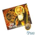 Cartão com Medalha de São Bento | SJO Artigos Religiosos