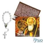 Cartão com Mini Terço de São Bento | SJO Artigos Religiosos