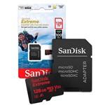 Cartão de Memoria 128gb Micro Sd Cl10 Extreme SDSQXAF Sandis