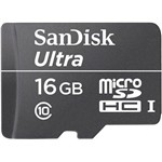 Cartão de Memória Micro SD 16GB SanDisk Ultra 30MB/s
