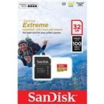 Cartão de Memória Microsd 32gb Extreme Classe 10 Até 100mb/s Câmera de Ação 4k e Full Hd   Sdsqxaf-032g-gn6aa