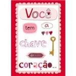Cartão Handmade Beauty Amor Estampa Chave do Meu Coração - Grafon's