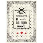 Cartão Handmade Beauty Amor Estampa Moldura da Sorte- Grafon's