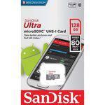Cartão Microsd Sandisk Ultra 128gb Classe 10 - Lacrado
