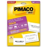 Cartao Visita Branco Premium 7087 180g Pimaco C/100un