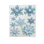 Cartela de Adesivo 3d Decoração Natal 47,5x30cm Azul