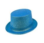 Cartola Plástica com Glitter Azul - Unidade