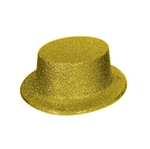 Cartola Plástica com Glitter Dourada - Unidade