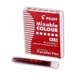 Cartucho de Tinta Pilot P/ Caneta Parallel Pen Vermelho - 12 Unidades