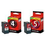 Cartucho Lexmark Combo 4 e 5 Original
