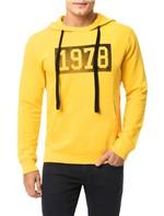 Casaco Calvin Klein Jeans Capuz Estampa Vintage 1978 Amarelo Ouro - GG