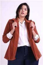 Casaco de Lã Plus Size Marrom P