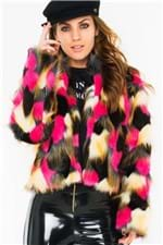 Casaco Feminino de Pelo Sintético Colorido CS0188 - Kam Bess