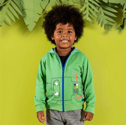Casaco Robozinho Maluquinho Verde Folha/1 e 2