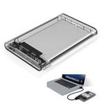 "Case para HD Transparente USB 3.0 Original Transmissão 5Gbps SATA 2.5"" HHD-SSD-ECASE-300-INFOKIT"