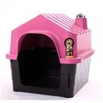 Casinha Plástica para Cães Durahouse Nº 2 Rosa