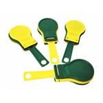Castanhola Amarelo e Verde - Pacote com 6 Unidades