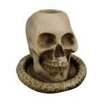 Castiçal Crânio Caveira Pequeno.