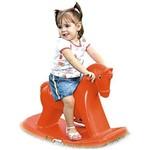 Cavalinho Balanço Andador com Som Vermelho -alpha Brinquedos