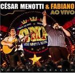 CD Cesar Menotti & Fabiano - Voz do Coração: ao Vivo
