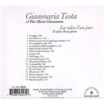 CD Gianmaria Testa & Pier Mario Giovannone - La Valse D'Un Jour (Importado)