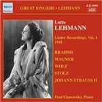 CD Lehmann Lieder Recordings (Importado)