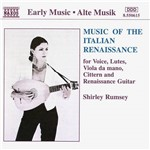 CD Music Of The Italian Renaissance: For Voice, Lutes, Viola da Mano, Cittern And Renaissance Guitar