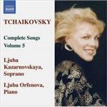 CD Pyotr Il'yich Tchaikovsky - Songs (Complete), Vol. 5 (Importado)