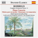 CD Rodrigo - Piano Concerto And Orchestral Vol. IV