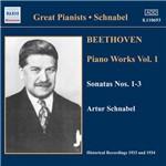 CD Schnabel Plays Beethoven Piano Sonatas Vol. I