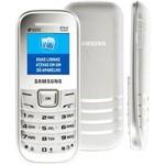 Celular Desbloqueado Samsung E1207 Branco com Dual Chip, Viva-voz, Rádio Fm e Fone de Ouvido.