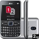 Celular Dual Chip LG C397 Desbloqueado Preto Wi-Fi Memória Interna 1GB e Cartão 2GB