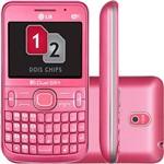 Celular Dual Chip LG C397. Desbloqueado. Rosa. Wi Fi. Câmera 2MP. Memória Interna 1GB e Cartão 2GB