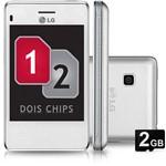 Celular LG T375 Desbloqueado Tim Branco Dual Chip Câmera de 2.0MP Wi Fi Memória Interna 50MB e Cartão 2GB