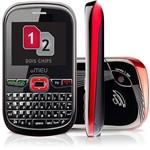 Celular Meu Sn45 Dual Chip Preto e Vermelho - Gsm