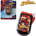 Celular Musical Infantil Homem Aranha Spider Man com Luz a Bateria na Cartela