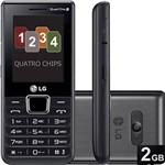 Celular Quadri Chip LG A395 Desbloqueado Preto Câmera 1.3MP Memória Interna 128MB e Cartão de Memória 2GB