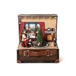 Cenário Natal C/movimento Luz e Som Maleta Papai Noel 20cm