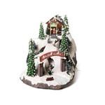 Cenário Natal C/movimento Luz Som Montanha Neve C/minituras