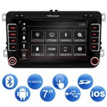 Central Multimídia Novo Fusca 14 a 16 7 Pol Espelhamento Android IOS Tv Digital Bluetooth Gps USB