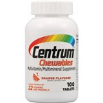Centrum Adulto Chewables Mastigável Laranja - 100 Comprimidos