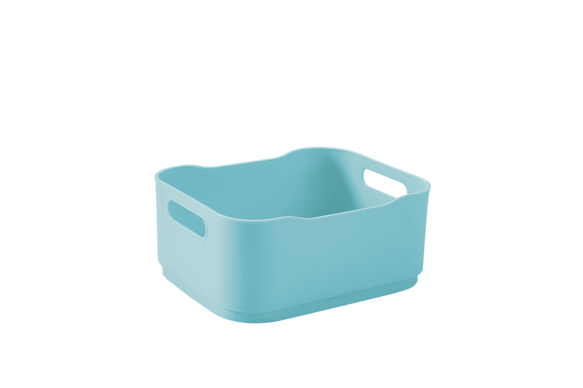 Cesta Fit Baby Pequena 18,5 X 15 X 8 Cm Azul Baby Coza