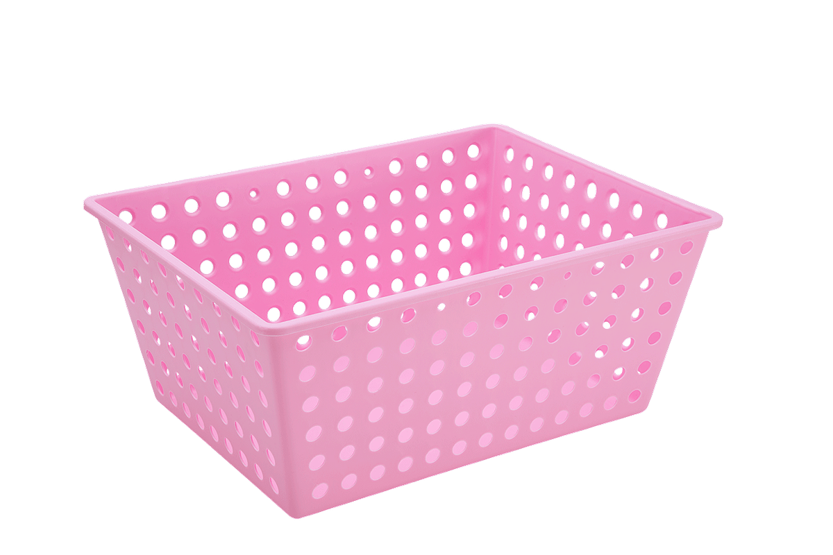 Cesta Maxi 38,2 X 29,2 X 16,6 Cm Rosa Baby Coza