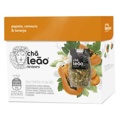 Chá Leão Senses Papaia, Cenoura e Laranja 10 Sachês