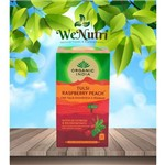 Chá Tulsi Framboesa e Pêssego 25 Sachês - Organic India