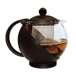 Chaleira Infusora 1250 Ml Bule Vidro Filtro Inox Coador Chá