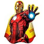 Chapéu de Aniversário Iron Man Assemble com 8 Unidades - Regina Festas