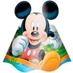 Chapéu de Aniversário Mickey Diversão com 8 Unidades - Regina Festas